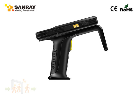Android 4.4 Rugged UHF RFID Handheld Reader 4G Wifi Bluetooh GPS Gun Grip Trigger