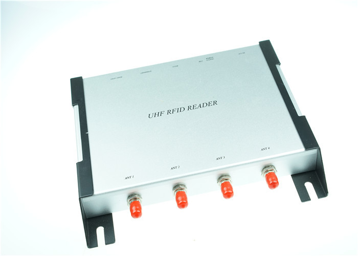 Long Range UHF RFID Reader , 4-Channel RFID Card Readers 840MHz~960 MHz