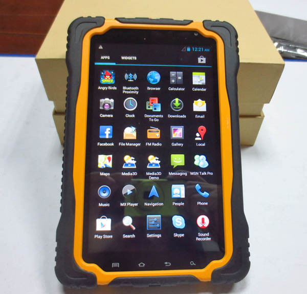 Rugged 7 inch Android Handheld Tablet RFID Reader With SIM Card Amd Wi-Fi