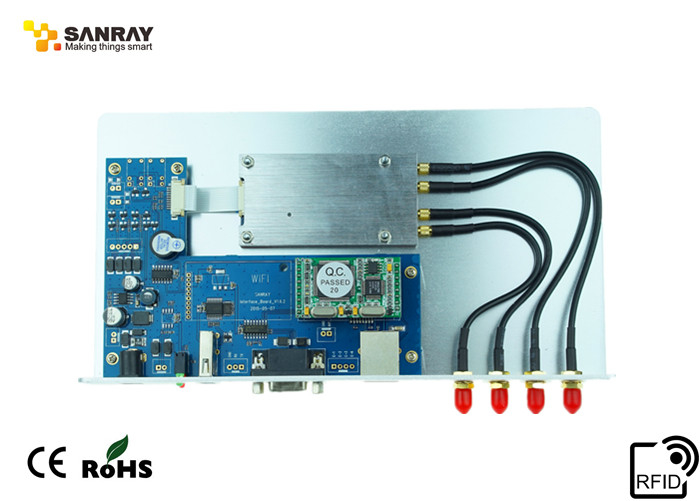 Long Range UHF RFID Reader Module Four Ports 840-960 MHz Frequency