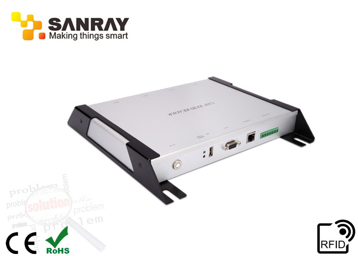 840~960 Mhz Impinj R2000 UHF Fixed Four Port  RFID Reader Stm32 Main Control Chip RS485 RS232 USB 100M Enthernet Port