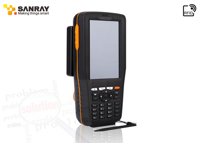 Industrial Android System UHF RFID Handheld Reader 4 inch screen