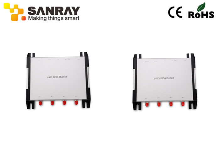 Fixed Four Port RFID Reader , rfid antenna reader Long Reading Distance