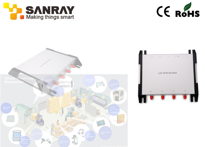 RSSI RS232 Interface Four Port RFID Reader , rfid portable reader For Vehicle System