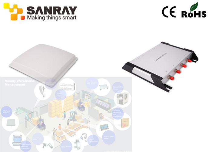 RS232 RJ45 Port 12dbi Antenna rfid long range reader For Asset Management