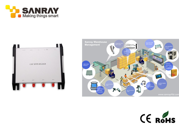 Long Distance Four Port RFID Reader WIFI 840~960 MHz Working Frequency