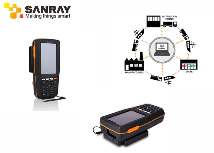 840-960 Mhz Frequency Uhf Rfid Handheld Reader With 4 Inch Touch Screen