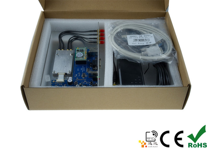 Portable Four Port UHF RFID Reader Module with Development Board and Free Demo and SDK